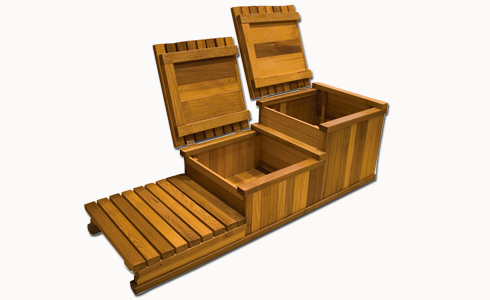 3 Tier Hot Tub Storage Step